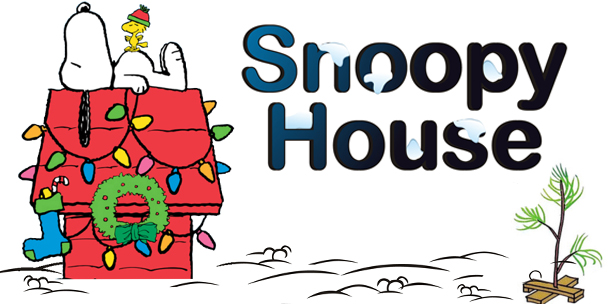 snow in forecast for snoopy house grand opening - Snoopy House Christmas