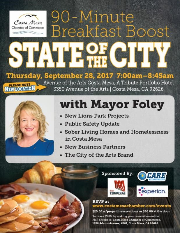 Breakfast Boost: State of the City – City of Costa Mesa News on