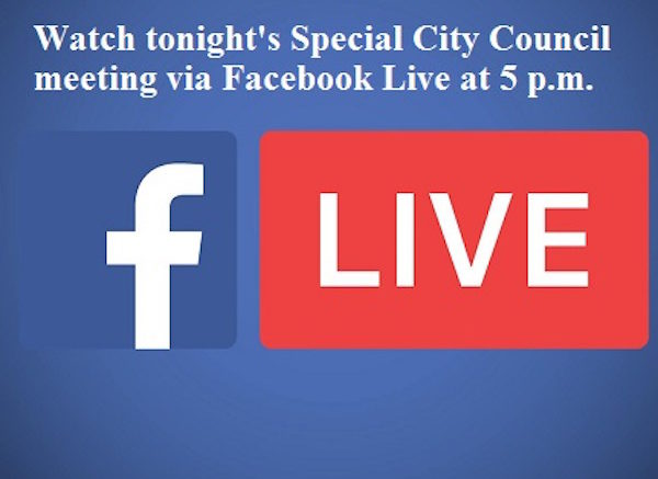 City to live stream tonight's Special City Council meeting via